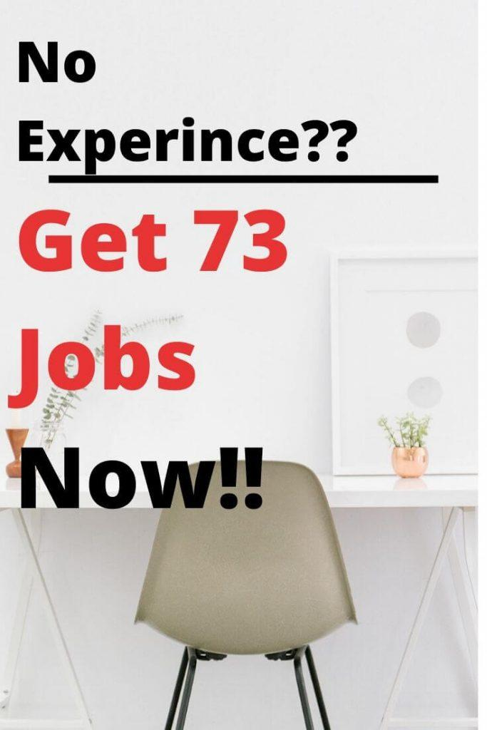 Jobs Without Experience
