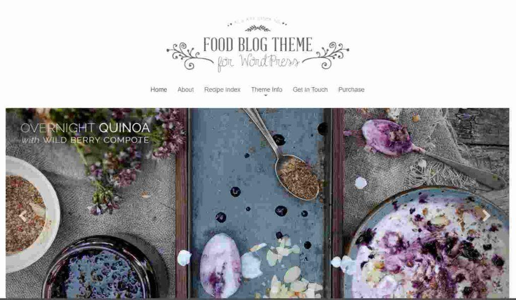 Theme for Cooking Blog