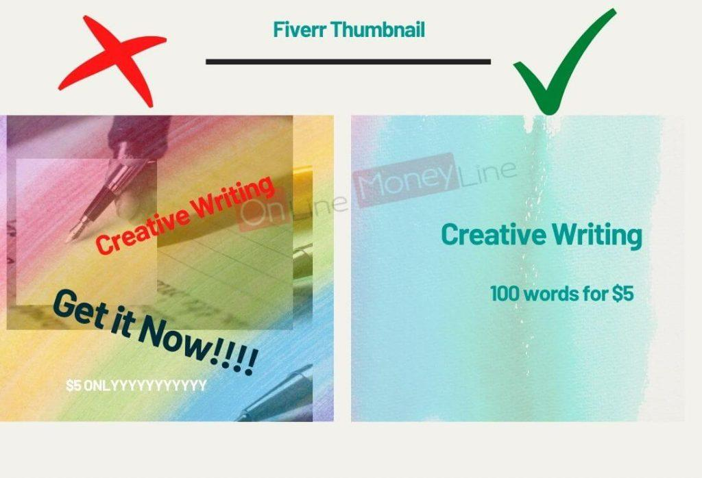 How to use colors in Fiverr thumbnail