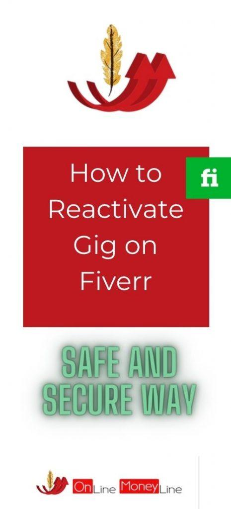 How to Reactivate Gig on Fiverr