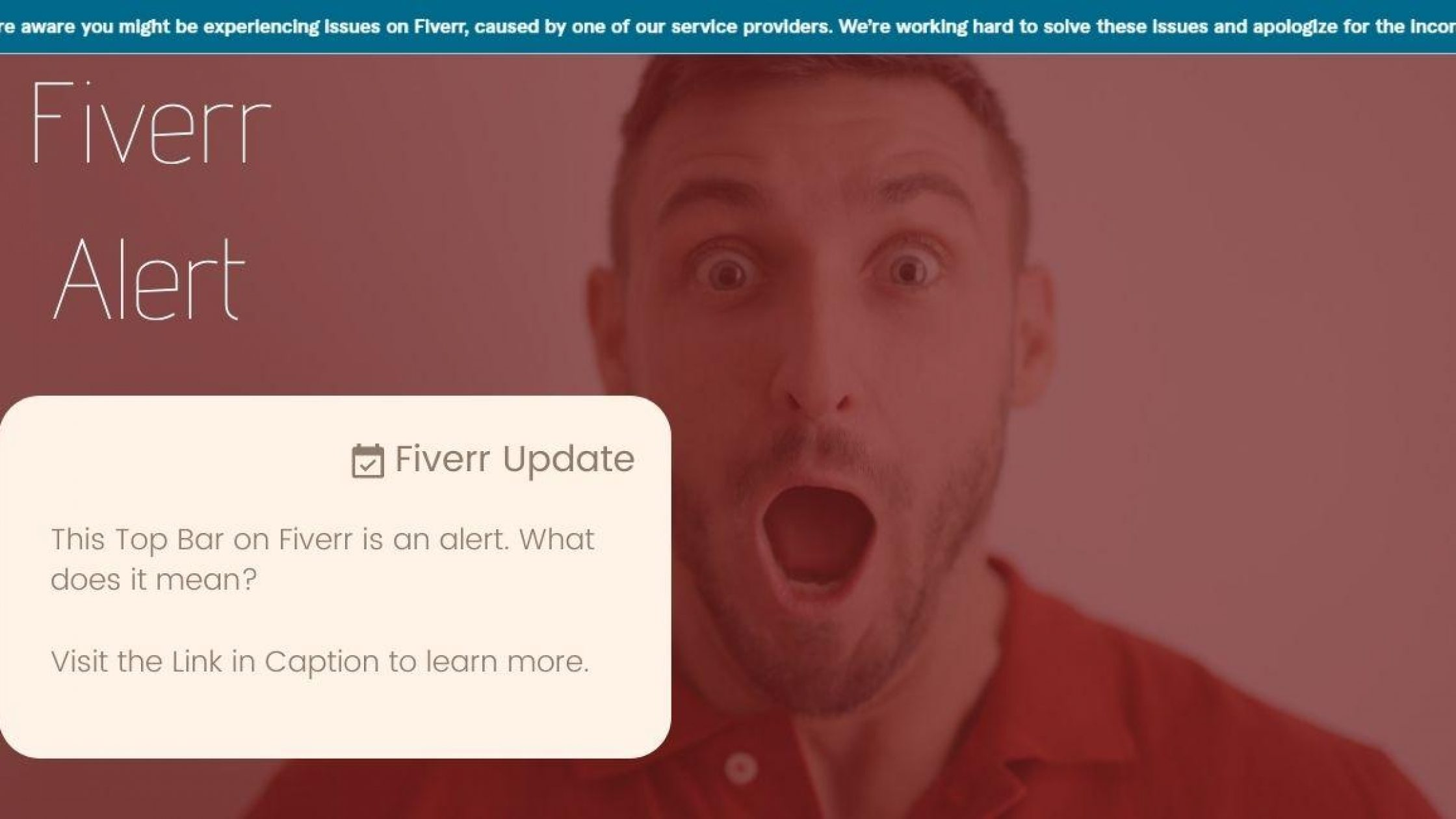 We're aware you might be experiencing issues on Fiverr