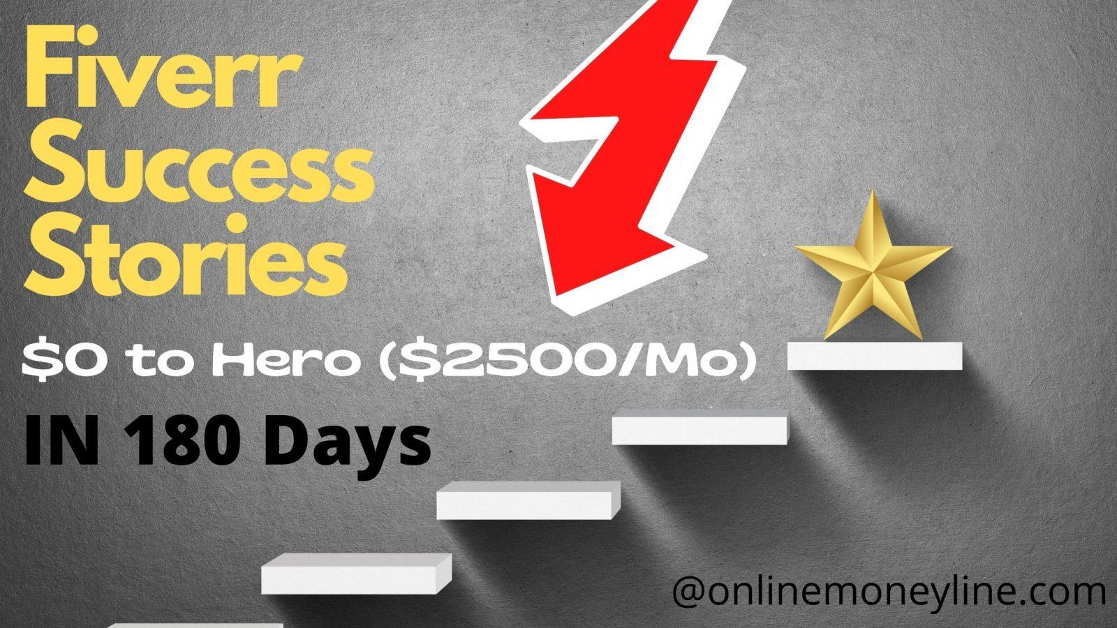 Read more about the article Fiverr Success Stories: Start to Hero $2500/Mo