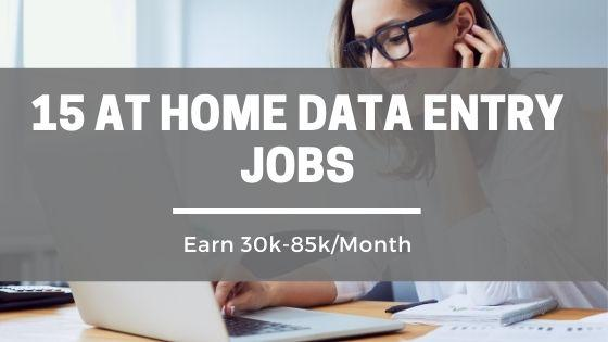 At Home Data Entry Jobs
